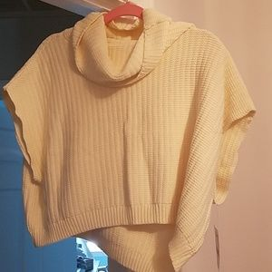 Free People nwt cropped sweater cream